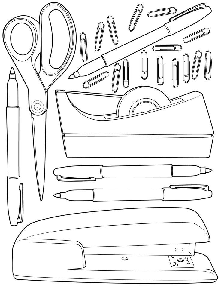 The Spinsterhood Diaries Sunday Coloring Page Office Supplies