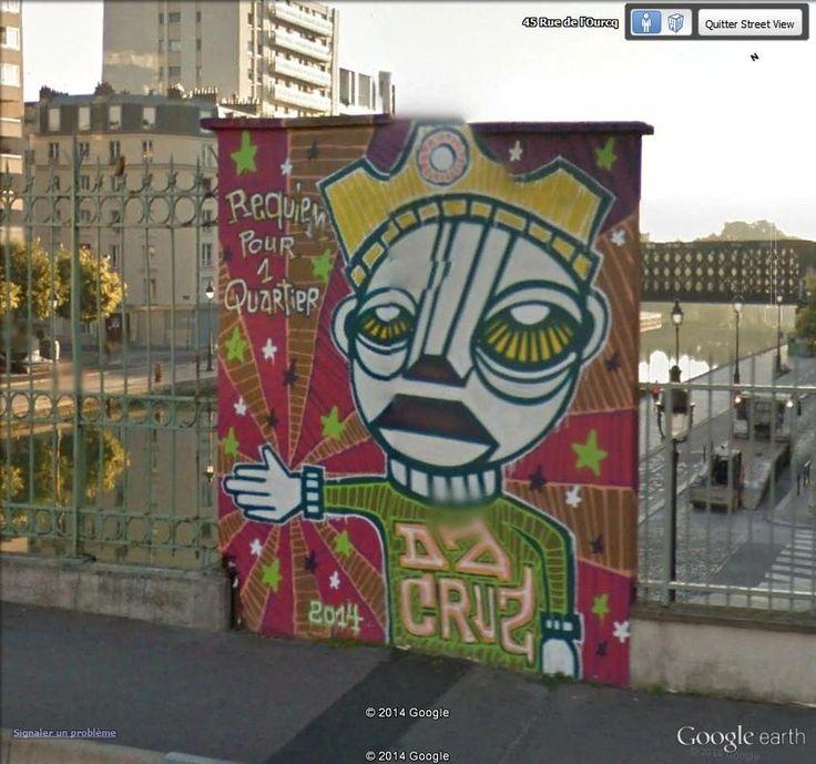 """Requiem pour un quartier. Rue de l'Ourcq, 75019 Paris 48°53'23.44""""N  2°22'59.25""""E Street Art on Google Street View"""