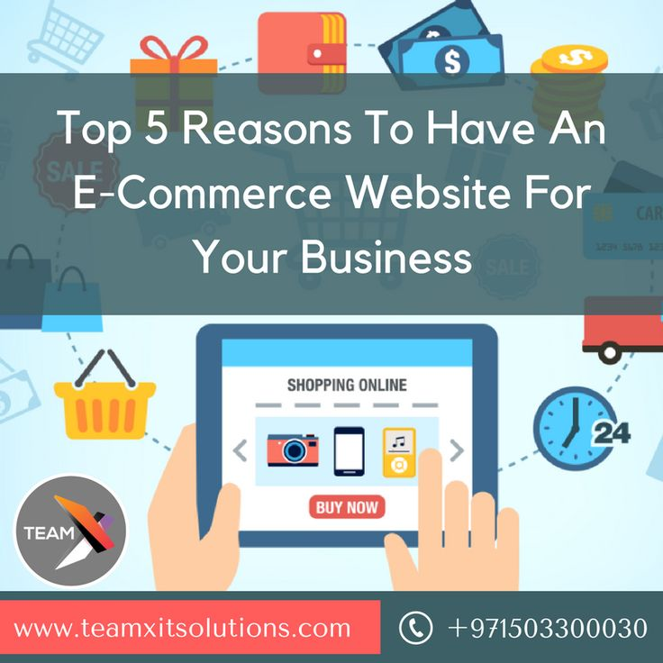 Top 5 Reasons To Have An #eCommerceWebsite For Your Business https://teamxitsolutions.com/e-commerce-website-development-abu-dhabi/