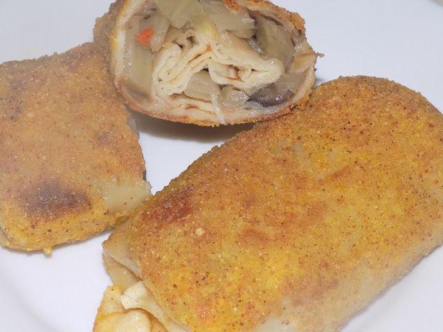 magiczna kuchnia Kasi: Krokiety z białą kapustą i pieczarkami