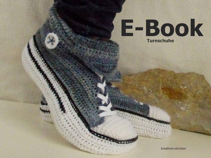 e-Book:+Häkelanleitung+Turnschuhe+Gr.+36+-+45+von+kreatives+Stricken+auf+DaWanda.com