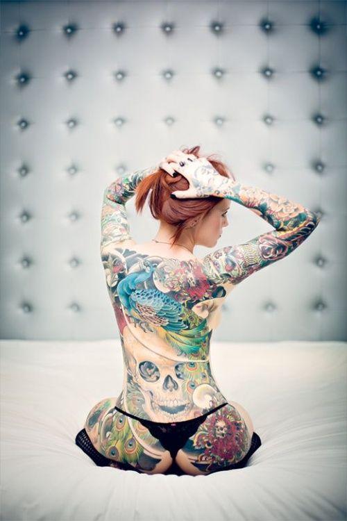 татуированные девушки модели