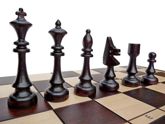 Elegant stylish handcarved woodenchessset hand crafted for Hand crafted chess set
