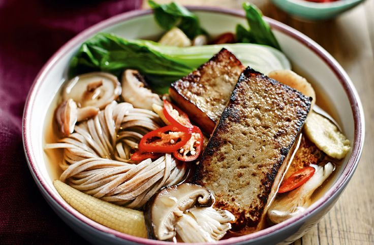 Marinated tofu and vegetable ramen | Tesco Real Food