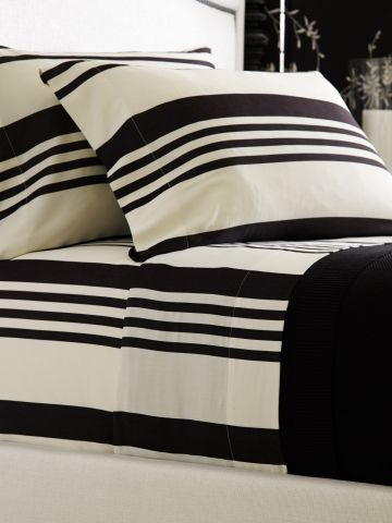 17 Best Images About Black And White Striped Sheets On
