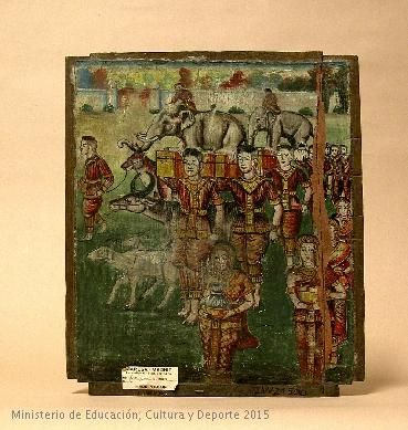 Pintura sobre tabla, Arte de India. CE21500