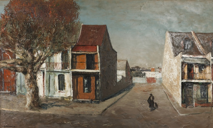 Sali Herman (1898-1993)  City street, early 1900's, Australia