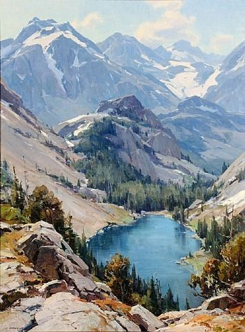 artnet Galleries: Lot 269: In the High Country by Clyde Aspevig from Coeur d'Alene Art Auction