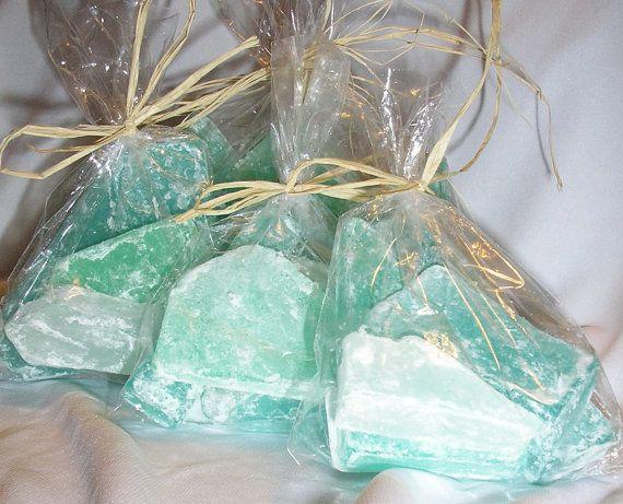 Beach Favors Sea Glass soap ocean scent  party favors beach themed wedding x 24