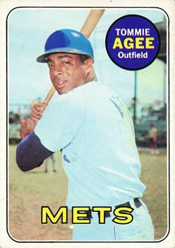 1969 Topps #364 Tommie Agee Front