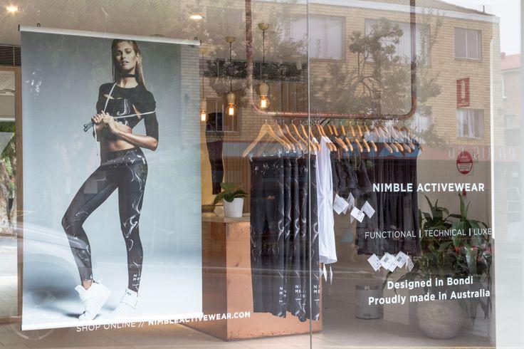 Nimble Activewear | Store Window
