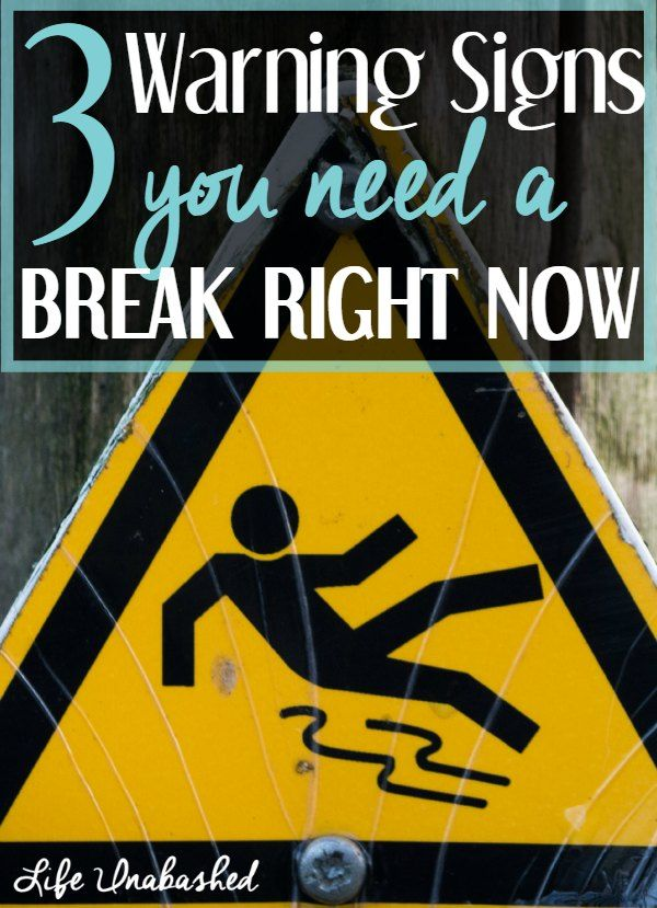 signs you need a break from dating While one can argue that you should do this because of ethical reasons: the risk of breaking up a family (particularly if there are children involved), there are other reasons for ending a relationship or dating a married man.
