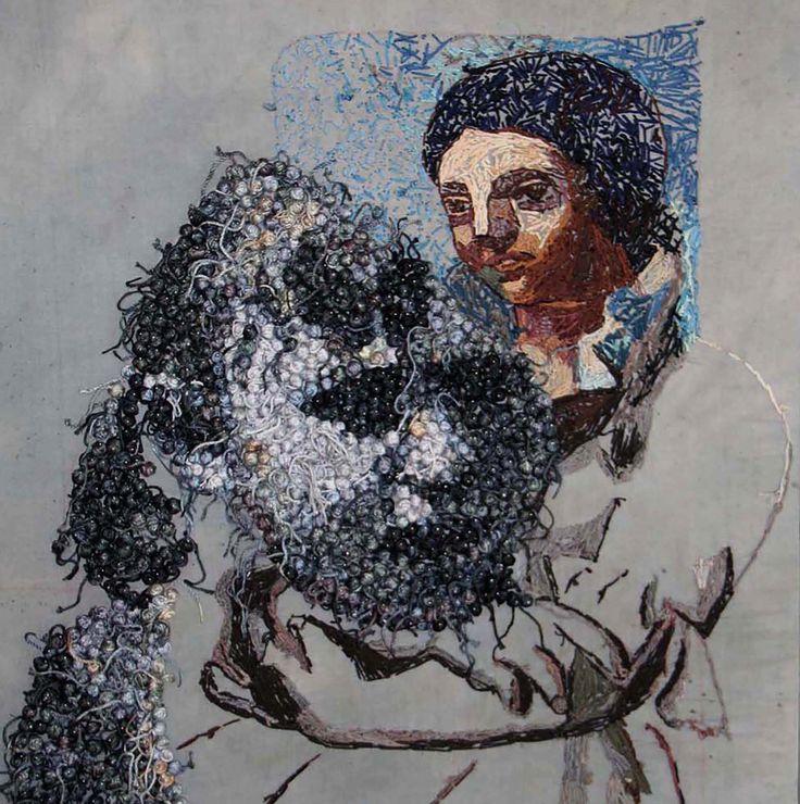 75X71 cm thread on textile,2014