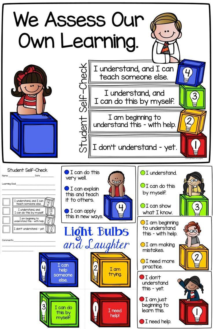 best images about pe portfolios and assessment objective here are some neat ways to have students assess their own learning this teacher also recommended using tap lights for each student as a way to