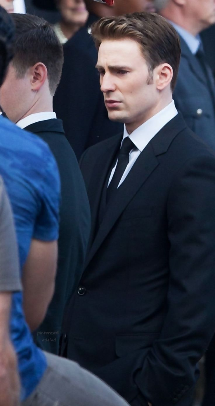 Chris Evans. I think this was at Peggy's funeral. . .