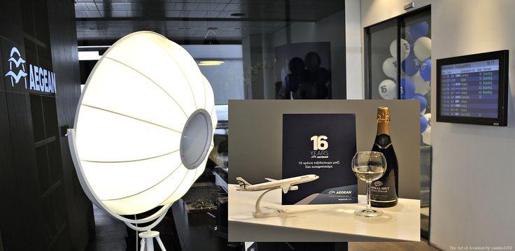 10. 16χρόνια AEGEAN, 16 χρόνια ταξιδεύουμε μαζί σας, «Ευχαριστούμε» Στο VIP Lounge της Θεσσαλονίκης – Αθηνών και Λάρνακας προσφέρεται Σαμπάνια στους επιβάτες της διακεκριμένης θέσεως καθώς και στους κατόχους της χρυσής Miles+Bonus