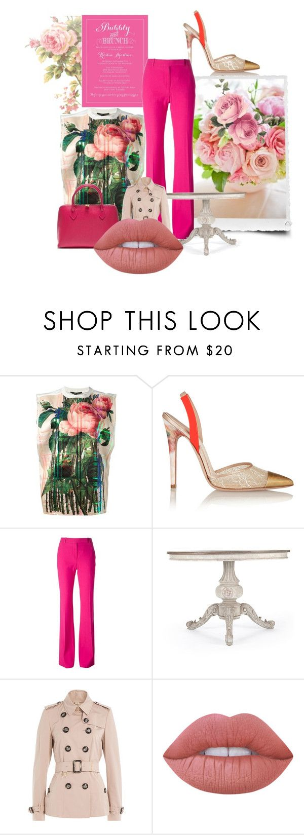 """""""And We'll Have Brunch!"""" by the-house-of-kasin ❤ liked on Polyvore featuring Yohan Kim, Giambattista Valli, Renata Corsi, Alexander McQueen, Burberry and Lime Crime"""