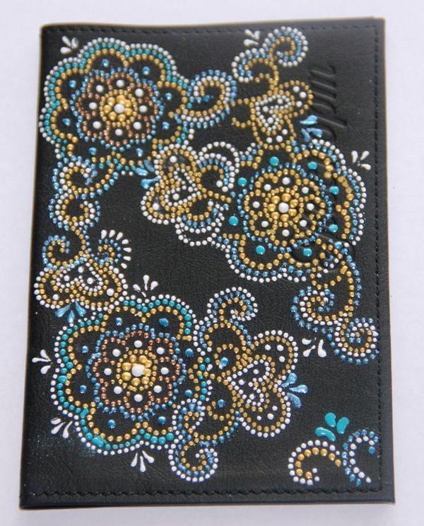 Обложка из ткани для паспорта скрапбукинг 93