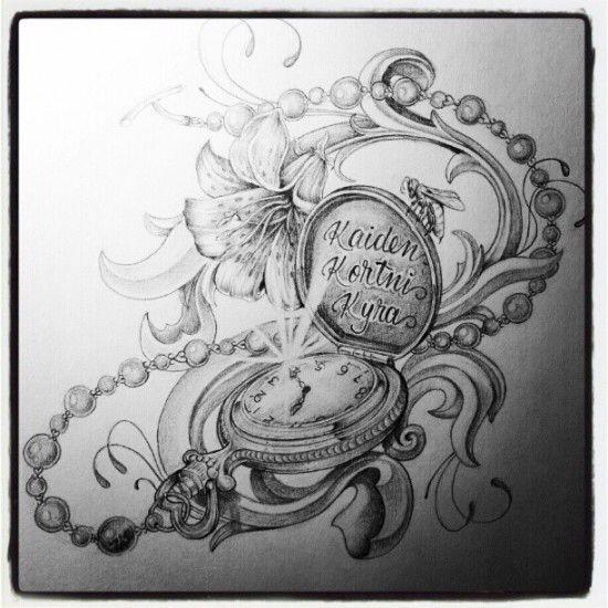 Taschenuhr zeichnung  Die besten 10+ Taschenuhr tattoo Ideen auf Pinterest | Taschenuhr ...