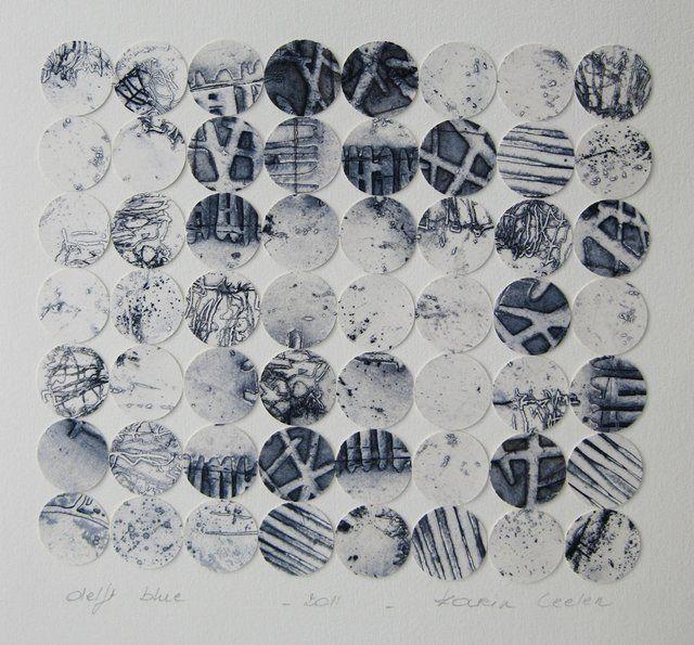 annsymes:    Karin Ceelen  etching - Delft Blue