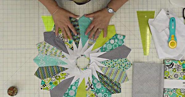 Tutorial: Learn How To Make This Gorgeous Dresden Sunburst Quilt!   24 Blocks