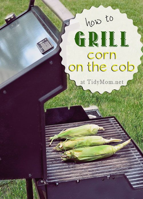 How to Grill Corn on the Cob at TidyMom.net- we did this the other night-differently than this but it was so good!