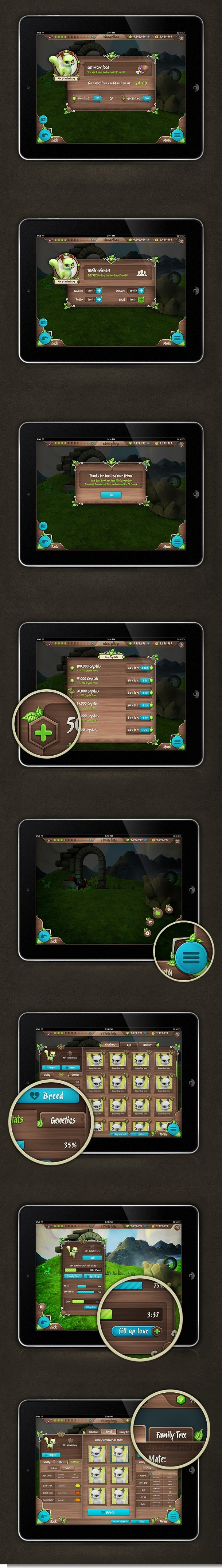 Strangelings Game Design, Interaction Design, UI/UX