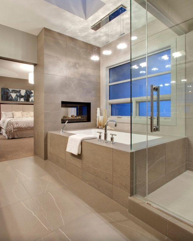 Contemporary Master Bathroom With Master Bathroom Pendant