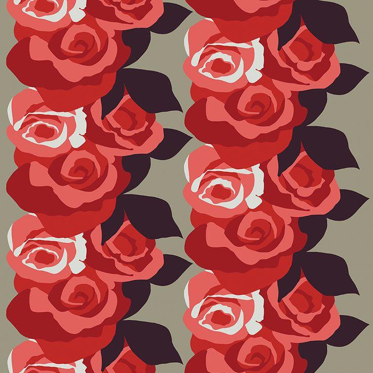 Amanda Mini Red // Metsovaara Premium Print collection from Materialised www.materialised.com  #metsovaara #print #collection #premium #pattern #textile #fabric #interiordesign #materialised