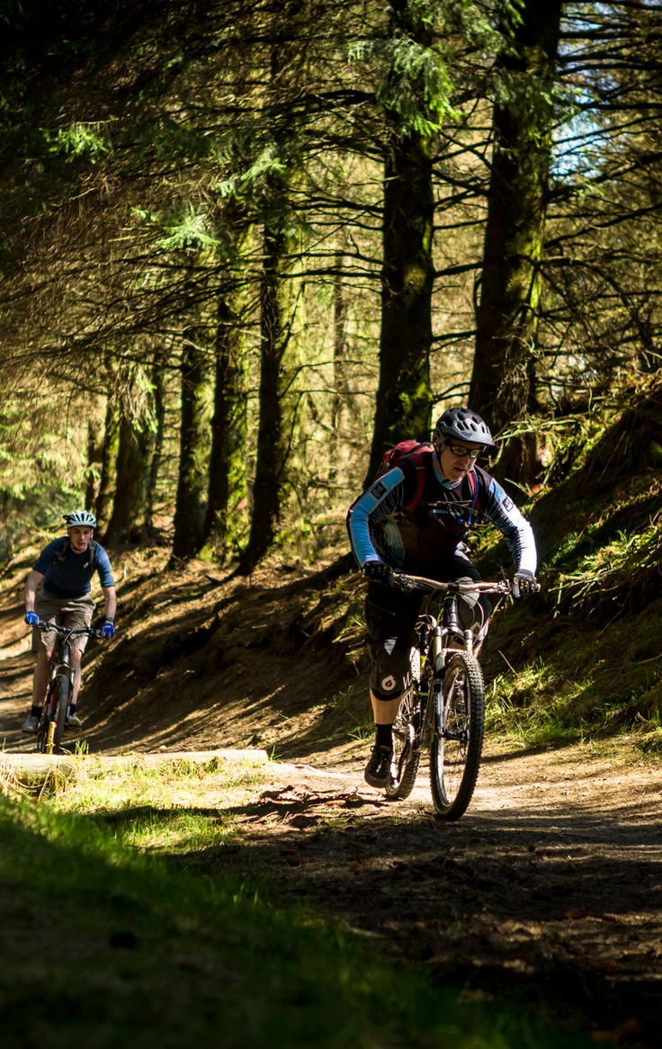Pumping and jumping our way down the red route at Llandegla, Wales.