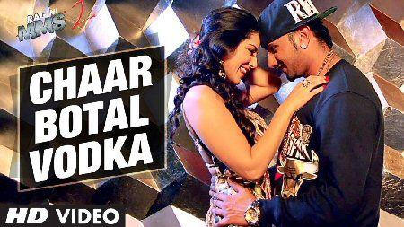 Chaar Bottle Vodka lyrics with translation in Hindi language fonts #yoyohoneysingh #sunnyleone #raginimms2