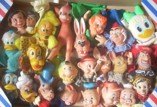 Disney dieren handpoppen, poppenkastpoppen, disneyfiguren 📌handdolls Goofy Bambi pigs
