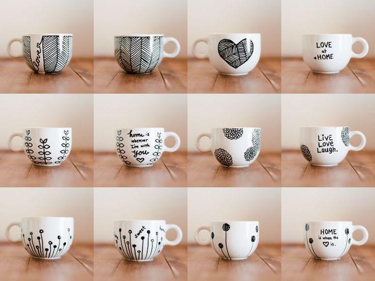 Don't Mind if I Do: DIY: Personalized Mugs (aka Sharpie Mugs)