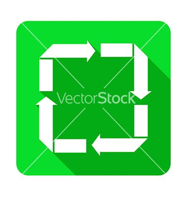 Recycle reduce reuse recover flat shadow icon vector 4253483 - by ratandesignz on VectorStock®