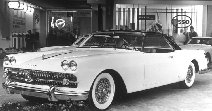 OG | 1957 Buick Lido | Special car body designed by Pininfarina. The roof of this custom made model rose automatically as the door was opened to facilitate entry into the interior.