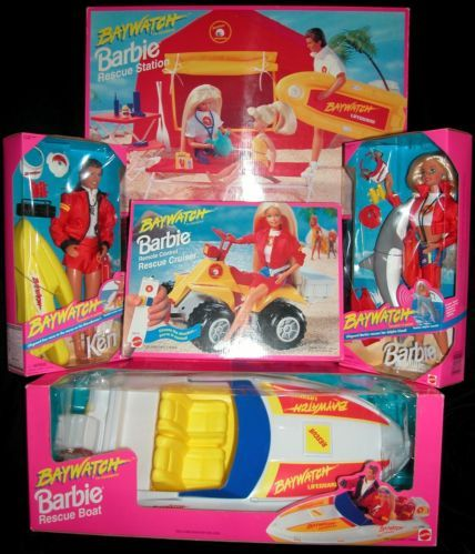 RARE 1994 Barbie Ken Doll Baywatch Boat Remote Control Cruiser Car Station Lot | eBay