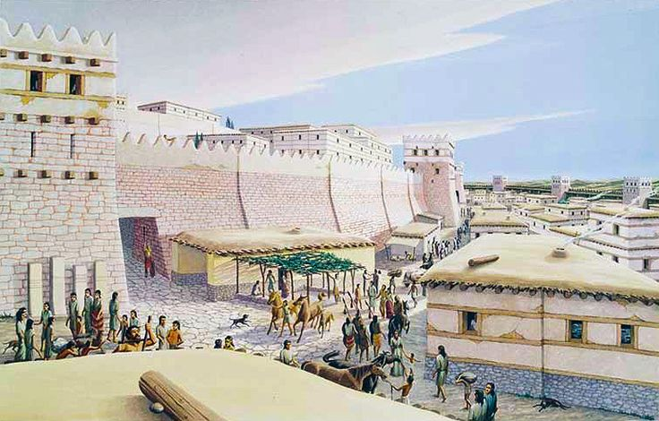 reconstruction of a part of the walls of Troy VI at the South Gate of the lower town