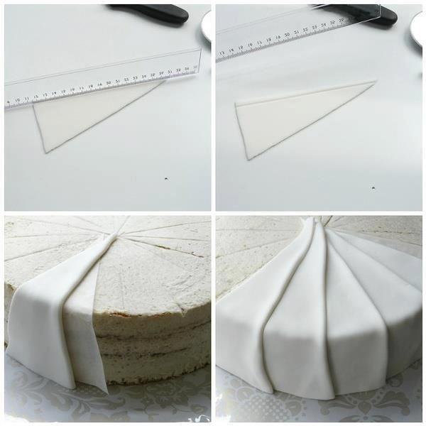 How to do fondant pleats