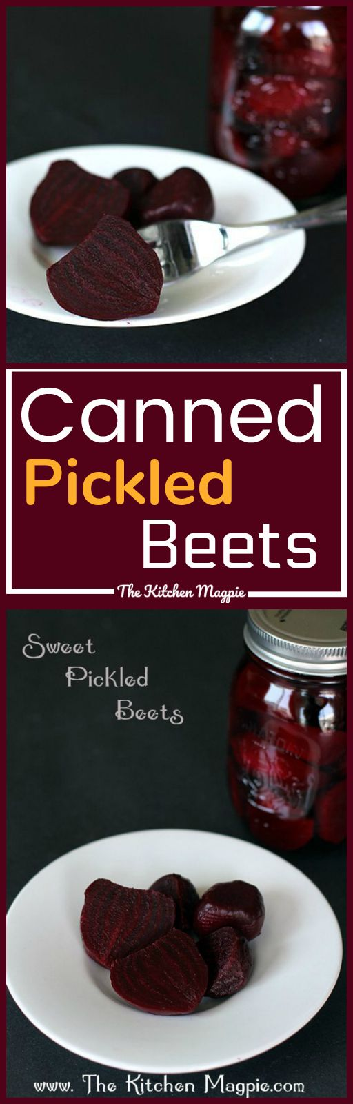 How to Make Canned Pickled Beets & Recipe! It's easier than you think to make these delicious pickled beets at home! Recipe from @kitchenmagpie.  #Canning #pickles #preserving #beets
