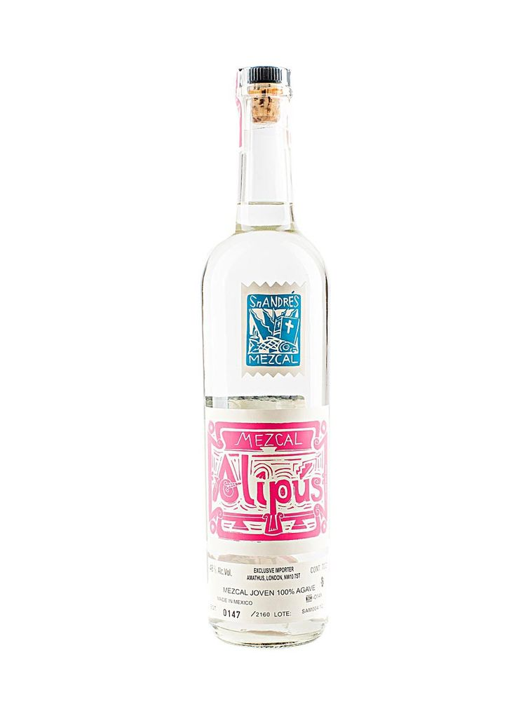 Alipus San Andres Mezcal Joven (fermented in cypress vats before distillation)