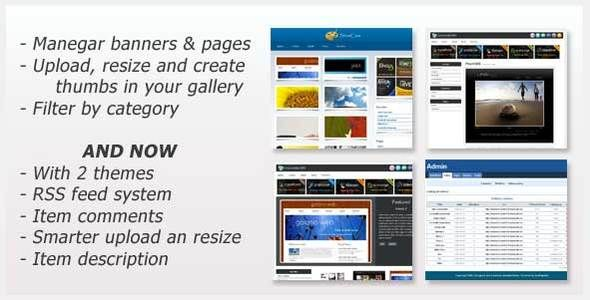 ShowCase - a gallery powered by CodeIgniter