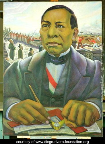 Portrait of Benito Juarez  1948 - Diego Rivera - www.diego-rivera-foundation.org