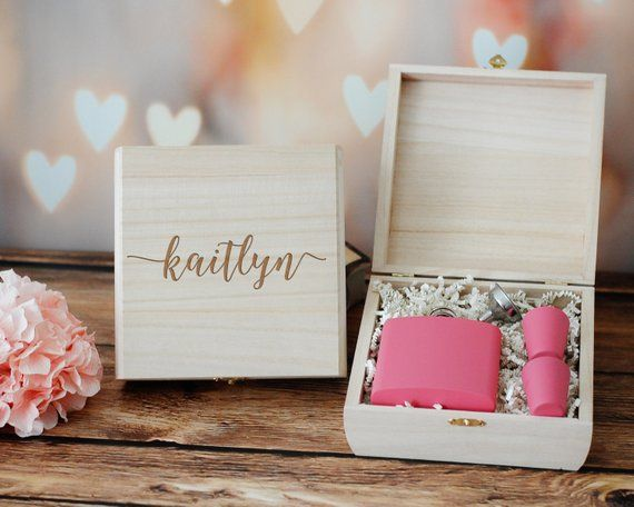 Bridesmaid Gift Box Bridesmaid Proposal Gift Box Custom Engraved
