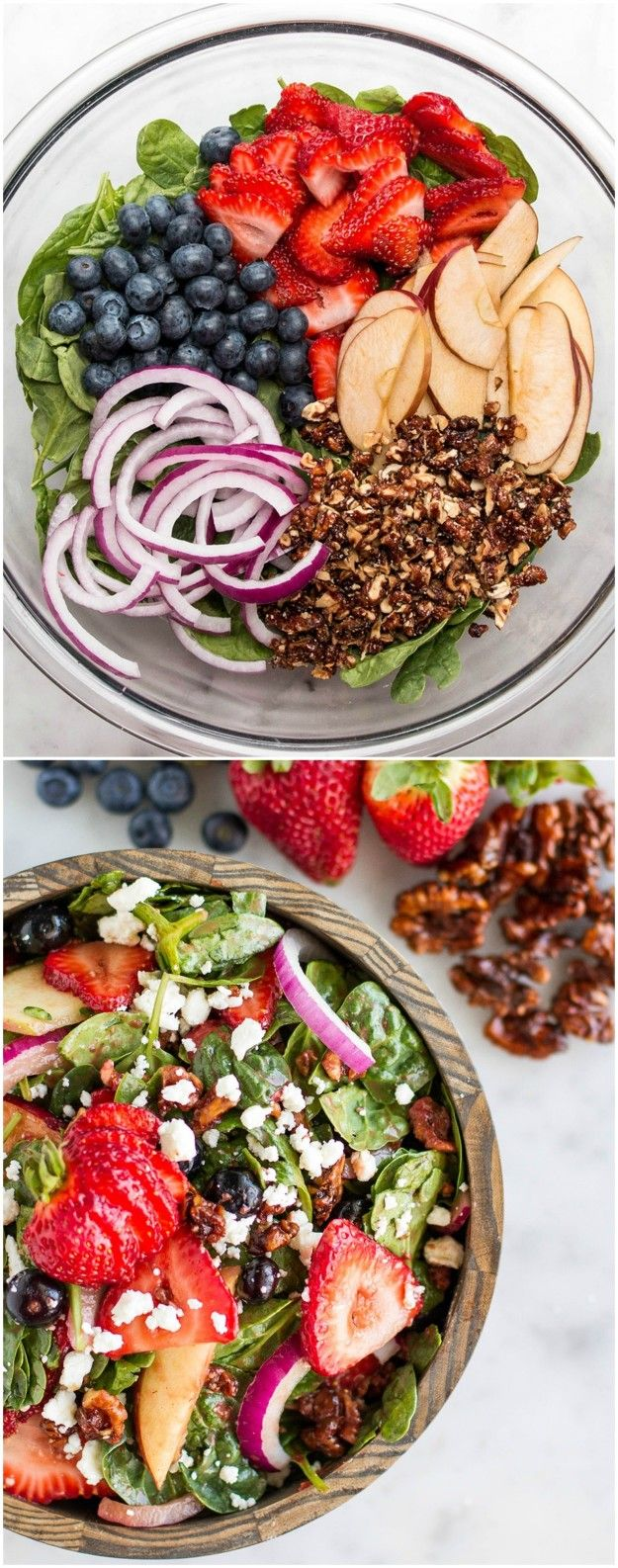 Mixed Berry Salad With Strawberry Balsamic Vinaigrette Dressing                                                                                                                                                      More