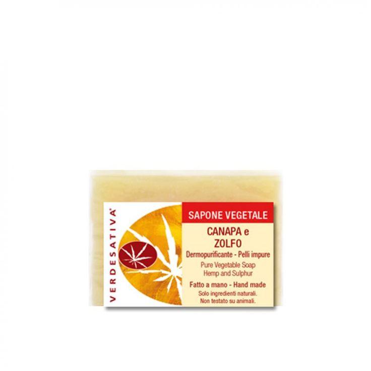 Soap Hemp and Sulfur Verdesativa - Verdesativa - Home page - Natural and organic certified cosmetics