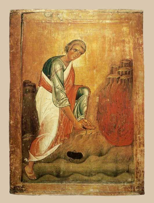 """Икона """"Моисей у Неопалимой купины"""""""