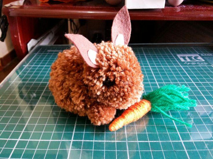 Páscoa - Easter, - pom-pom - coelho - DIY - Blog Pitacos e Achados - Acesse pitacoseachados.com