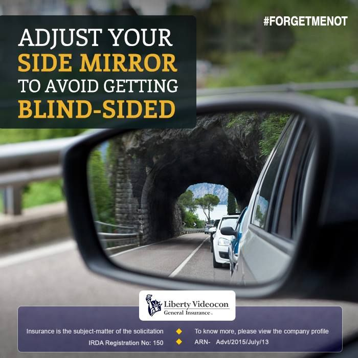 Never underestimate the use of a side mirror while driving. These come in handy when driving on crowded roads. #ForgetMeNot