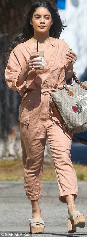 Think pink with Vanessa's Free People jumpsuit #DailyMail  Click 'Visit' to buy now