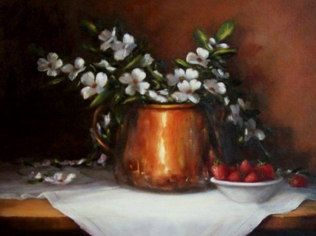 Copper and Dogwood, 14x18, oil. Available in my Ebay Store.